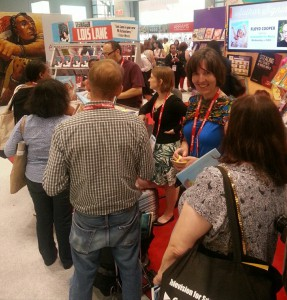 Book publicist Linda Stephen of Unfolding Communications at Book Expo America