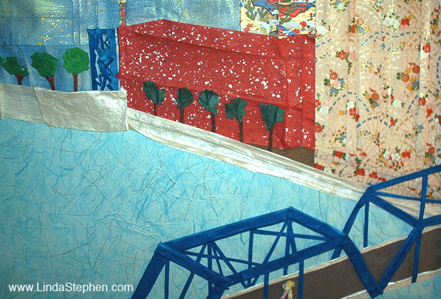 Griffin's View of Downtown Grand Rapids, Michigan - origami and paper landscape art by Linda Stephen - View 2