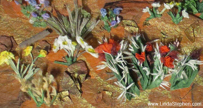 Hiking Sedona, origami and paper landscape art by Linda Stephen - view 9