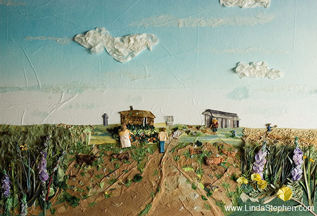 The Dream, origami and paper landscape art by Linda Stephen - view 1