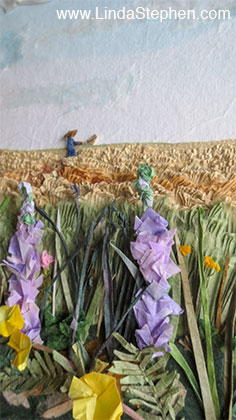 The Dream, origami and paper landscape art by Linda Stephen - view 2