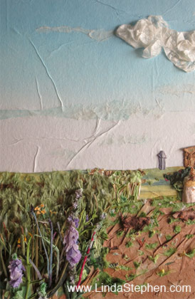 The Dream, origami and paper landscape art by Linda Stephen - view 3