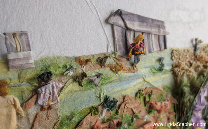 The Dream, origami and paper landscape art by Linda Stephen - view 6